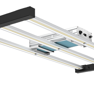 low isometric view of Frequency, a LED grow light of Horticraft Holland. Designed for the vegetation stage of the crop cycle.