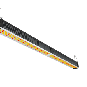 low isometric view of the Photon, a LED grow fixture of Horticraft Holland. Designed for supplementary lighting in greenhouses