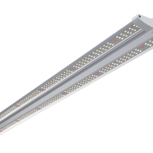 low isometric view of the Fractal, a grow light fixture of Horticraft Holland. Designed for vertical farming